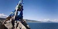 Blauer Himmel in der Mongolei