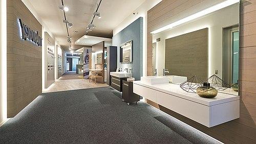 badausstellung mit nat rlichen akzenten tretford teppiche. Black Bedroom Furniture Sets. Home Design Ideas