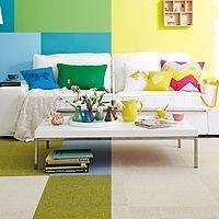tretford Teppichfliesen Wohnzimmer