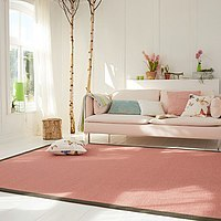 Rugs with linen borders