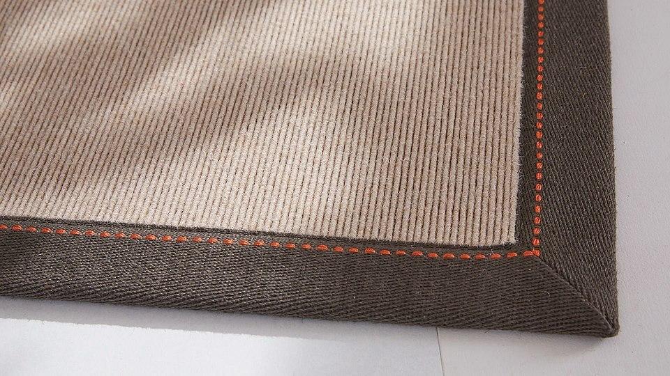 Teppiche mit Leinen-Bordüre